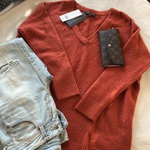 NWT French Connection burnt orange sweater